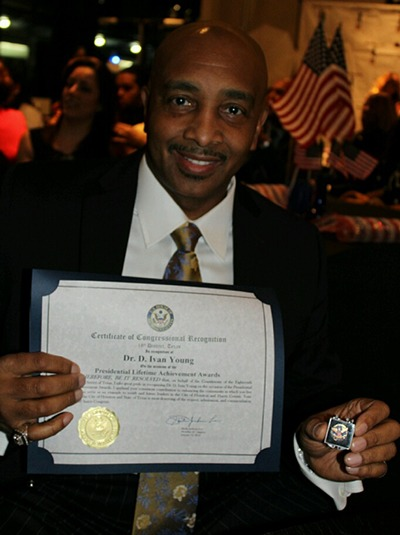 Dr. D. Ivan Young Certificate of Congressional Recognition